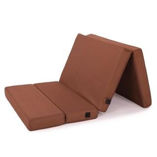 Cr Sleep 4-inch Twin-size Folding Memory Foam Mattress with Mesh Cover