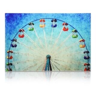 "Empire Art ""Ferris Wheel"" Frameless Free Floating Tempered Art Glass by EAD Art Coop"