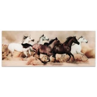 "Empire Art ""Stampede"" Frameless Free Floating Tempered Art Glass by EAD Art Coop"