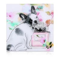 "Empire Art ""Little Frenchie"" Frameless Free Floating Tempered Art Glass by EAD Art Coop"