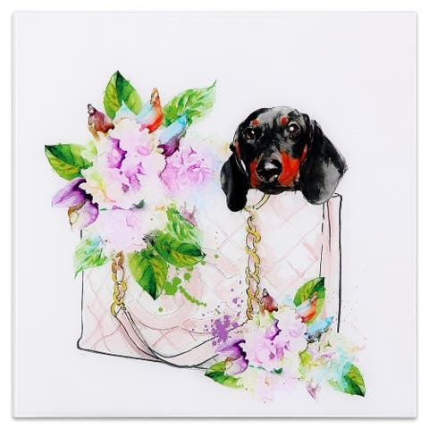 Gog&Bag Graphic Wall Art on Free Floating Tempered Glass Panel