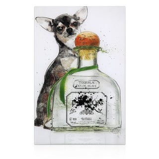 "Empire Art ""Viva Mexico"" Frameless Free Floating Tempered Art Glass by EAD Art Coop"