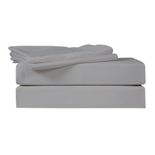 Just Linen 500 Thread Count 100% Egyptian Quality Cotton Sateen, Solid Wild Dove, Bedding Sheet Set