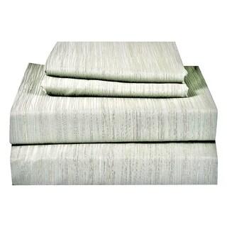 Just Linen 400 Thread Count 100% Egyptian Quality Cotton, Genuine Jacquard Damask, Self Design Bedding Sheet Set
