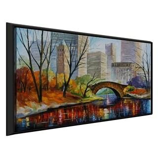 Central Park ' by Leonid Afremov Framed Oil Painting Print on Canvas