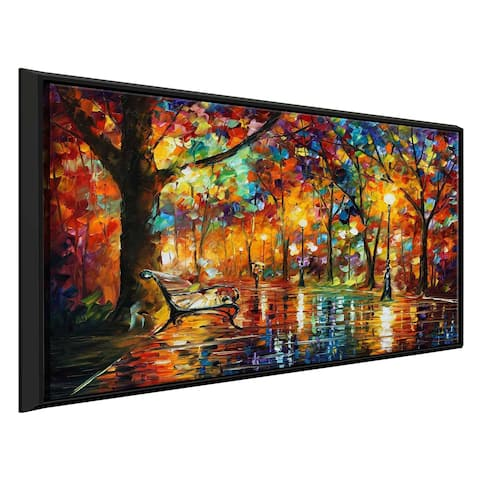 Colorful Night ' by Leonid Afremov Framed Oil Painting Print on Canvas