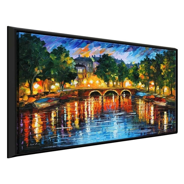 Amsterdam, The Release Of Happiness' by Leonid Afremov Framed Oil Painting Print on Canvas