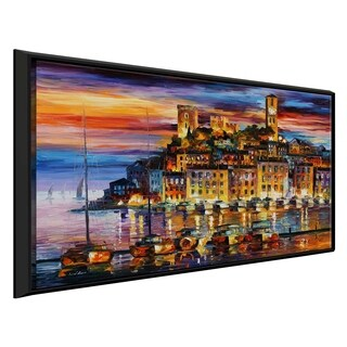 Cannes - France ' by Leonid Afremov Framed Oil Painting Print on Canvas