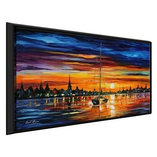 Calm Sunset ' by Leonid Afremov Framed Oil Painting Print on Canvas