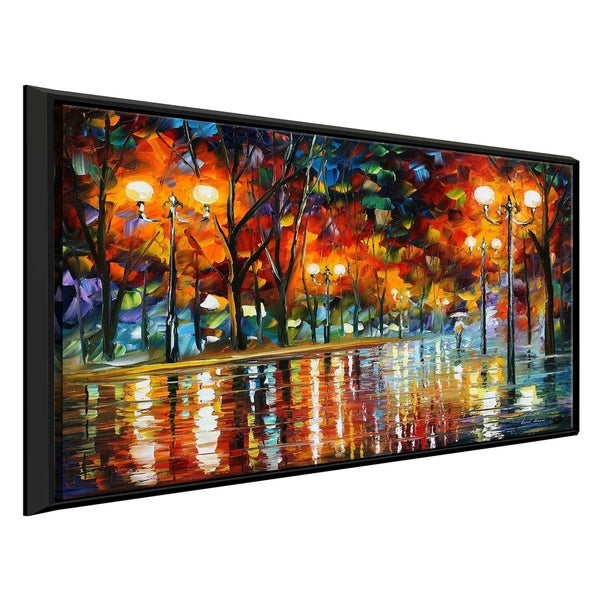 Did She Leave ' by Leonid Afremov Framed Oil Painting Print on Canvas