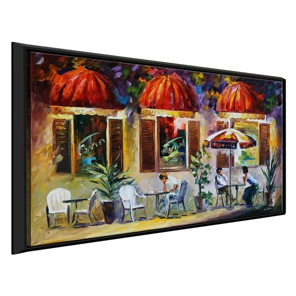 Espresso - Paris ' by Leonid Afremov Framed Oil Painting Print on Canvas
