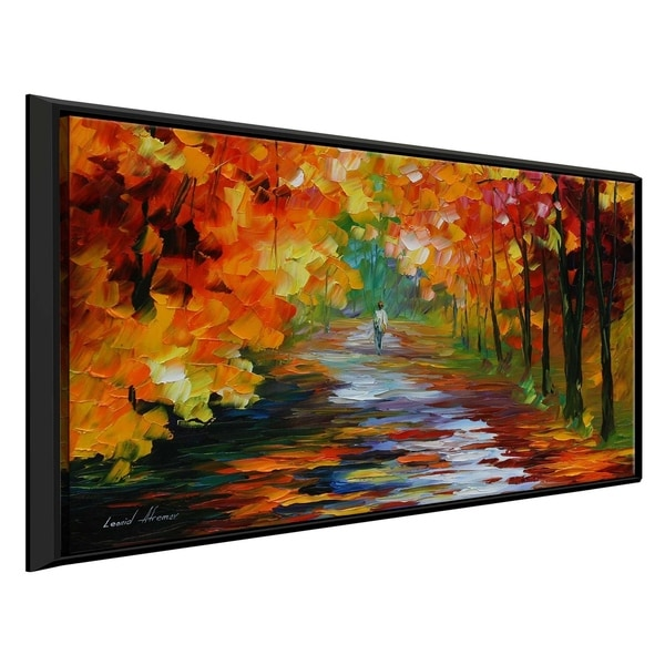 Gold Expanse ' by Leonid Afremov Framed Oil Painting Print on Canvas