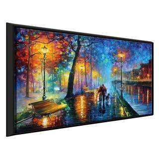 Melody Of The Night ' by Leonid Afremov Framed Oil Painting Print on Canvas
