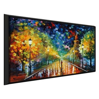 Gold Winter ' by Leonid Afremov Framed Oil Painting Print on Canvas