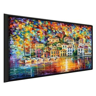 Dream Harbor ' by Leonid Afremov Framed Oil Painting Print on Canvas