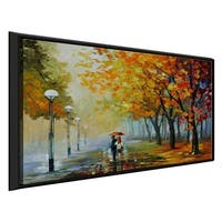 Fall Drizzle ' by Leonid Afremov Framed Oil Painting Print on Canvas