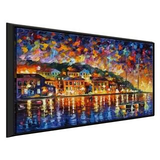 Island Sunset ' by Leonid Afremov Framed Oil Painting Print on Canvas