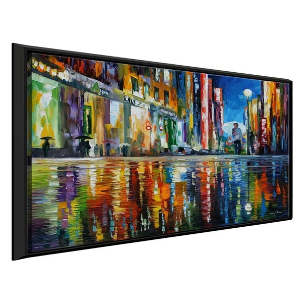 Mirror Of The Rain ' by Leonid Afremov Framed Oil Painting Print on Canvas