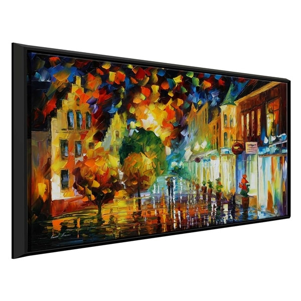 Night Attraction ' by Leonid Afremov Framed Oil Painting Print on Canvas