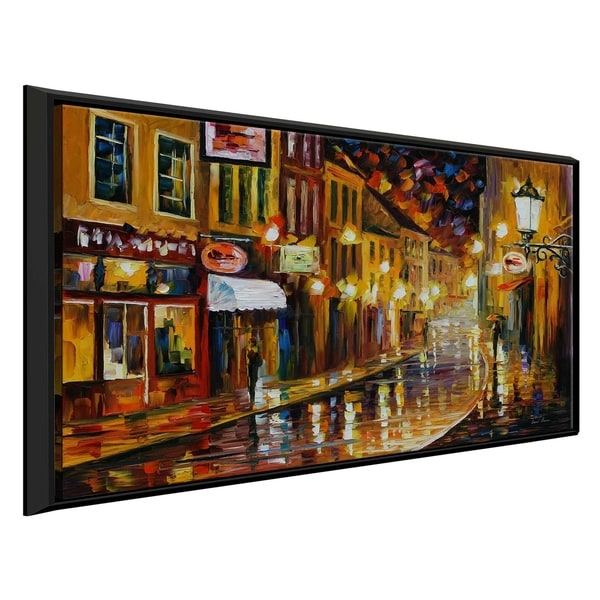 Shop Lights Of The Old Town ' By Leonid Afremov Framed Oil