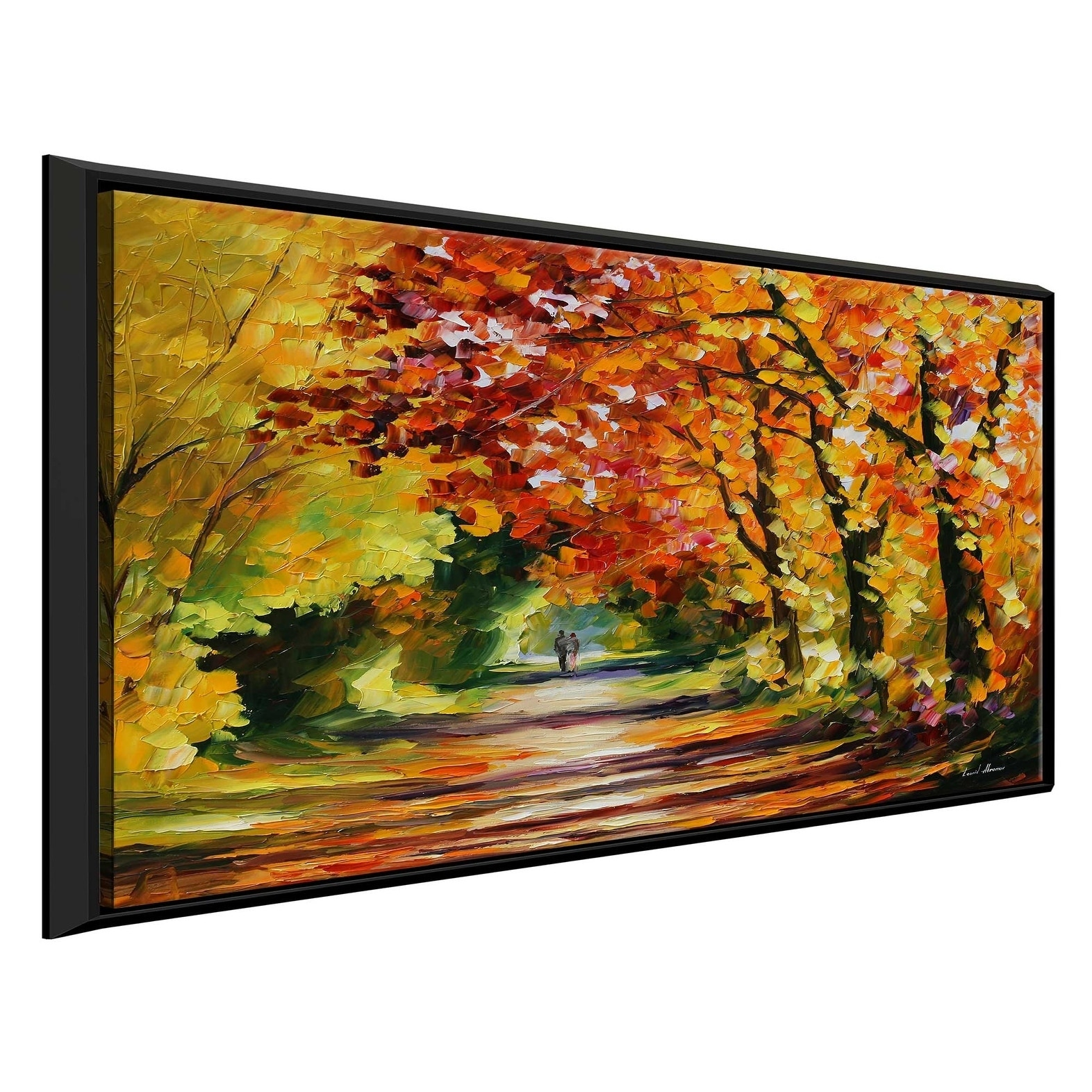 Sunny Path By Leonid Afremov Framed Oil Painting Print On Canvas Overstock 20503824
