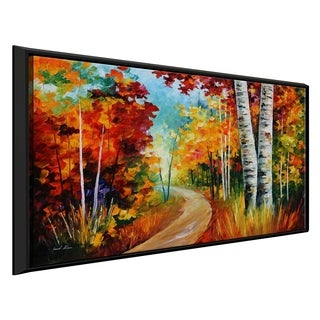 White Birches ' by Leonid Afremov Framed Oil Painting Print on Canvas