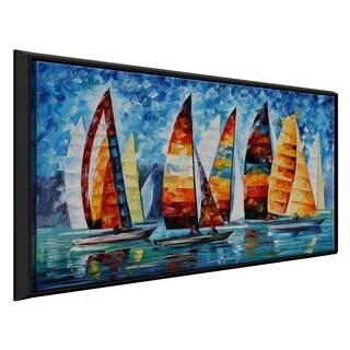 Sail Regatta ' by Leonid Afremov Framed Oil Painting Print on Canvas