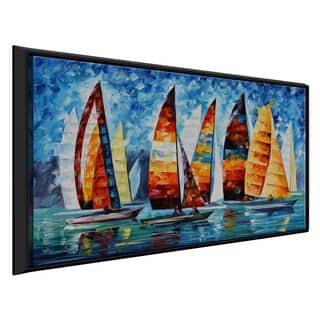 Sail Regatta ' by Leonid Afremov Framed Oil Painting Print on Canvas