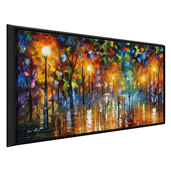 Unexpected Meeting ' by Leonid Afremov Framed Oil Painting Print on Canvas