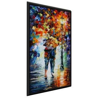 Bonded By The Rain I ' by Leonid Afremov Framed Oil Painting Print on Canvas