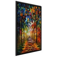 Forest Path ' by Leonid Afremov Framed Oil Painting Print on Canvas