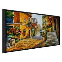 The Sun Of Sicily ' by Leonid Afremov Framed Oil Painting Print on Canvas