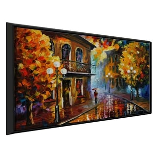 Fall Rain ' by Leonid Afremov Framed Oil Painting Print on Canvas