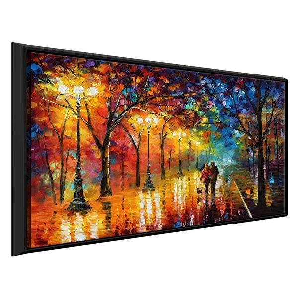 Night Happines ' by Leonid Afremov Framed Oil Painting Print on Canvas
