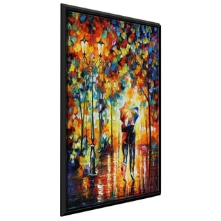 Under One Umbrella ' by Leonid Afremov Framed Oil Painting Print on Canvas