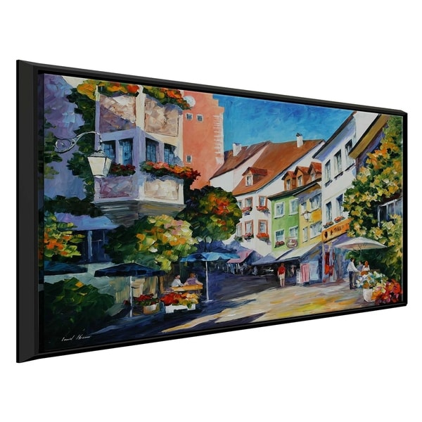 Sunny Meersburg Germany ' by Leonid Afremov Framed Oil Painting Print on Canvas