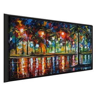 Tropical Fiesta ' by Leonid Afremov Framed Oil Painting Print on Canvas