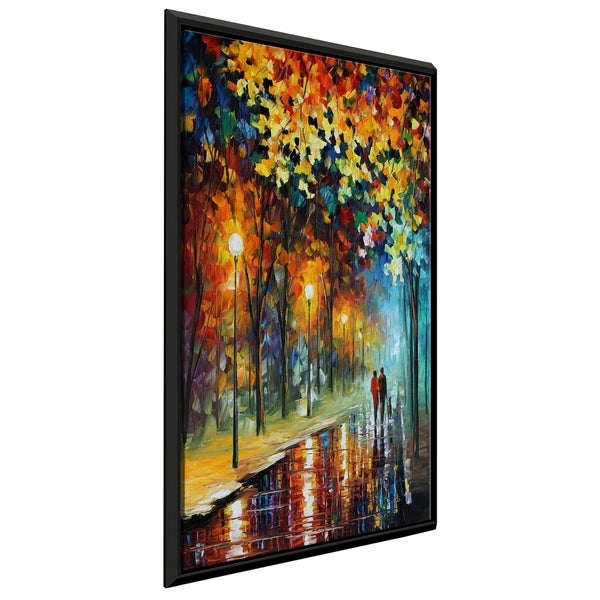 The Warmth Of Friends ' by Leonid Afremov Framed Oil Painting Print on Canvas