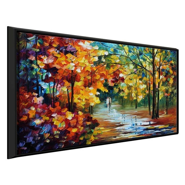 The Spirit Stroll ' by Leonid Afremov Framed Oil Painting Print on Canvas