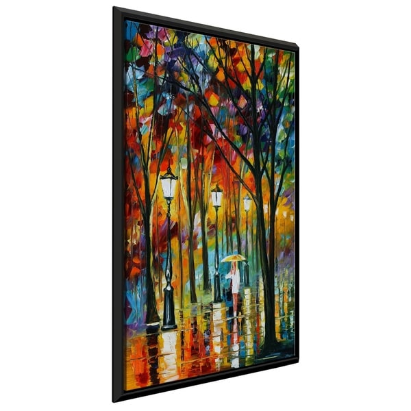 Lady In White ' by Leonid Afremov Framed Oil Painting Print on Canvas