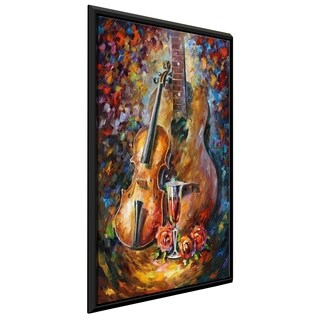 Guitar And Violin ' by Leonid Afremov Framed Oil Painting Print on Canvas