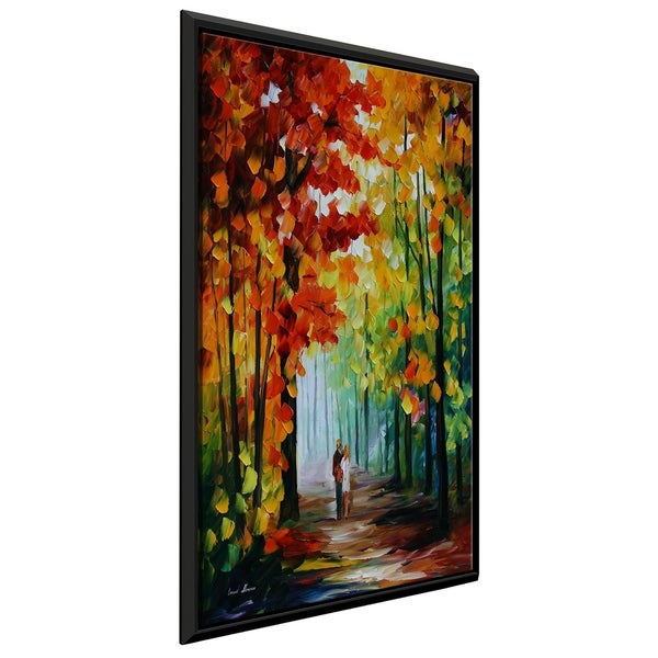 Morning In The Woods ' by Leonid Afremov Framed Oil Painting Print on Canvas