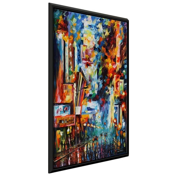 Night Broadway ' by Leonid Afremov Framed Oil Painting Print on Canvas