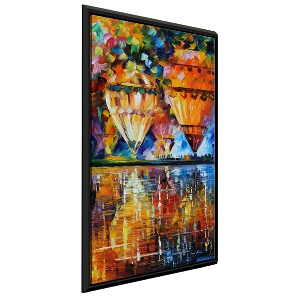 Balloon Reflections ' by Leonid Afremov Framed Oil Painting Print on Canvas