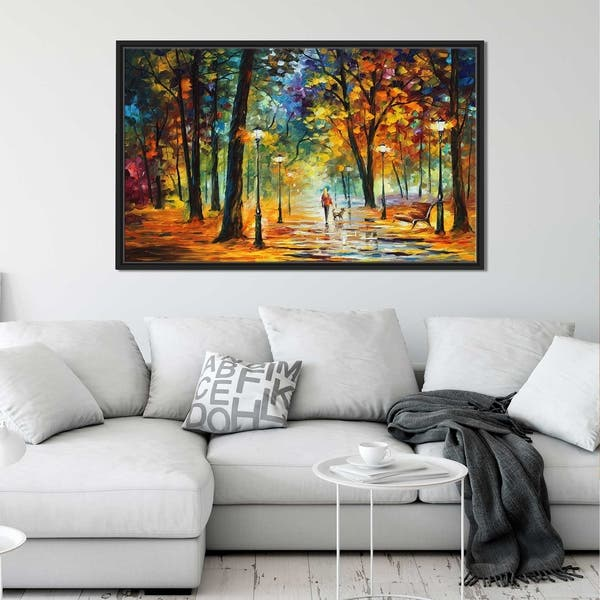 Improvisation Of Nature By Leonid Afremov Framed Oil Painting Print On Canvas Overstock 20503955