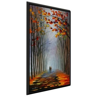 Autumn Fog ' by Leonid Afremov Framed Oil Painting Print on Canvas