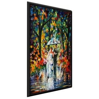 Wedding Under The Rain ' by Leonid Afremov Framed Oil Painting Print on Canvas