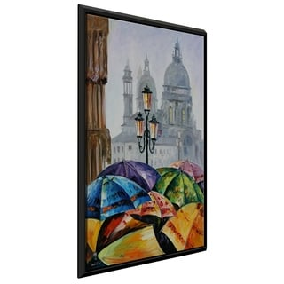 Rainy Day In Venice ' by Leonid Afremov Framed Oil Painting Print on Canvas