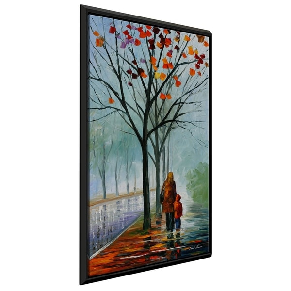 Stroll With Mama ' by Leonid Afremov Framed Oil Painting Print on Canvas