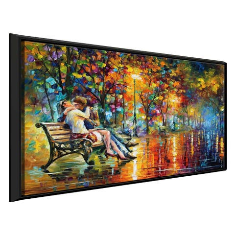 Passion Evening ' by Leonid Afremov Framed Oil Painting Print on Canvas